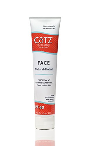 Cotz Face Natural Skin Tone SPF 40, 1.5 Ounce ()