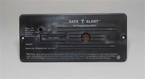 Safe T Alert RV Trailer Classic Lp Gas Alarm Flush Mount Bla