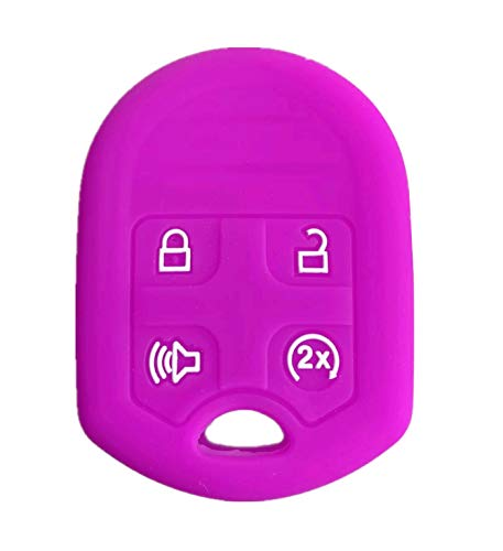 (Rpkey Silicone Keyless Entry Remote Control Key Fob Cover Case protector For Ford Expedition F150 F250-350 Lincoln Navigator 164-R8073 CWTWB1U793(Violet))