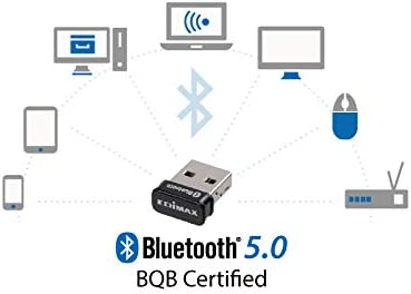LE Controllers BDR//EDR Linux: Kernel 2.6.32-5.3 or Above Supports Dual Mode BR//EDR BLE Fedora /& Ubuntu only Supports Windows 8.1//10 Edimax BT-8500 Bluetooth 5.0 Nano USB Adapter