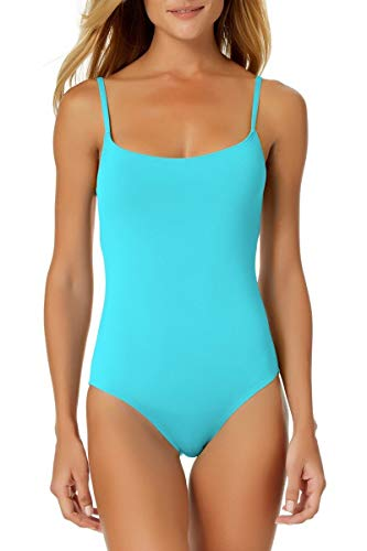 Anne Cole Classic Moderate Leg Maillot One Piece Swimsuit Turquoise