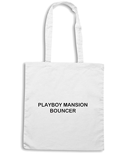 T-Shirtshock - Bolsa para la compra TDM00219 playboy mansion bouncher Blanco