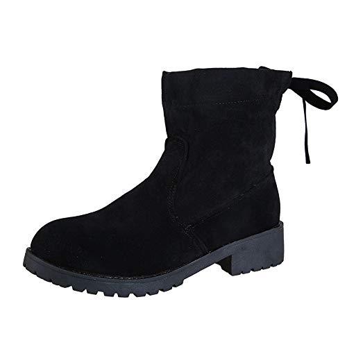 Talon Ashop Daim Pour Et Bottines Noir Hiver Britannique Chaussures Automne En Femmes vX6x456nr