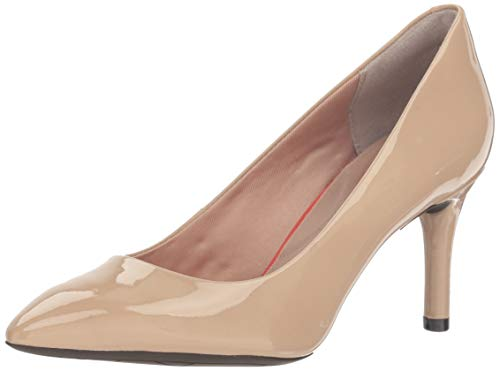 Rockport Women's Total Motion 75mm Pointy Toe Pump Warm Taupe 6 W (C)
