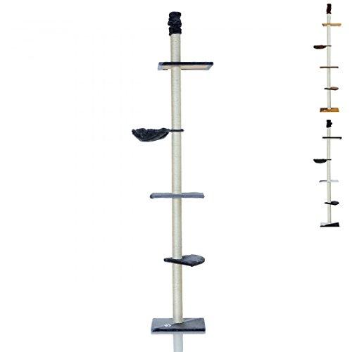 LCP XXL Katzenbaum Kratzbaum Kletterbaum Deckenhoch, 240-270 cm Höhe, 8 cm Dicke Sisal Säulen