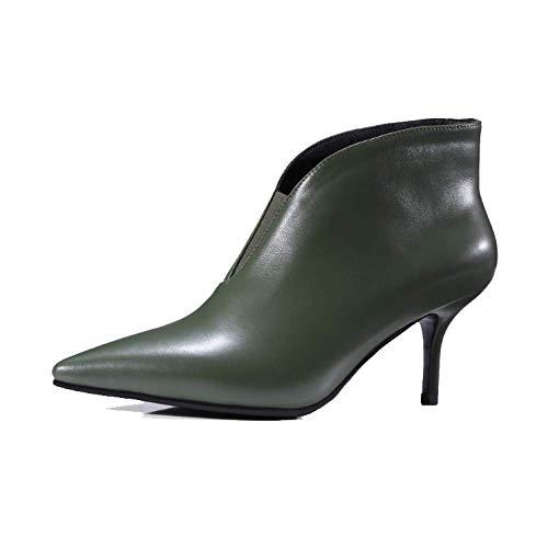 Talons Pointus Mode Aiguilles Chaussures Pour Américain Européen Femmes Zpedy Darkgreen Style Et Chaussons RfHRqw