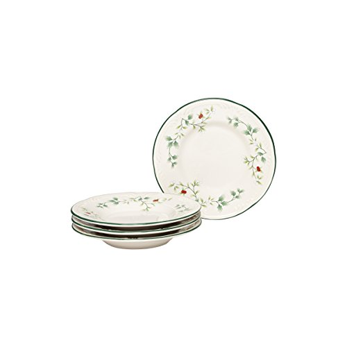 "Pfaltzgraff Winterberry Appetizer Plate Stoneware Set of 4 Gift Box, 6"", Assorted"