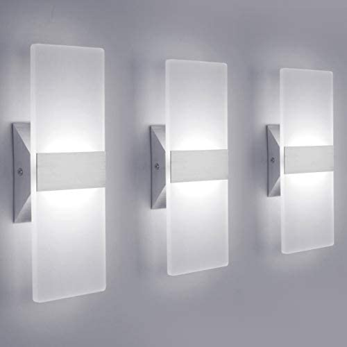 picture of LED Wall Sconce Modern Wall Light Lamps 12W Cool White