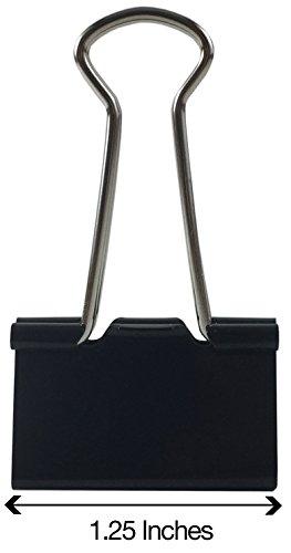 Clipco Binder Clips Medium 1.25-Inch Black (96-Pack) Photo #3