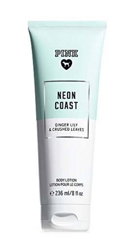 Victoria Secret PINK Body Lotion 236 ml/8 fl. oz (Neon Coast Ginger Lily & Crushed Leaves) ()