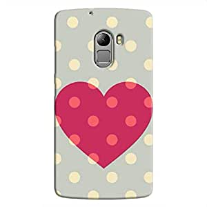 Cover It Up Love spotted Hard Case For Lenovo K4 Note, Multi Color