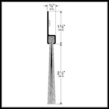 Pemko 2-1/2'' Nylon Brush Door Bottom Sweep, Dark Bronze Aluminum Casing, .375'' x 3.875'' (48'') by Pemko Manufacturer