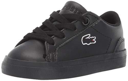 Lacoste Baby Lerond Sneaker, Black, 5.5. Medium US Toddler (Lacoste Baby Sneakers)