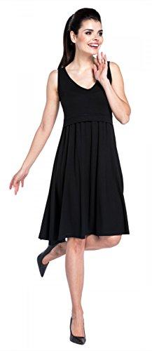 Zeta Ville - Premamá Vestido de lactancia efecto 2 en 1 capa - para mujer - 685c Negro