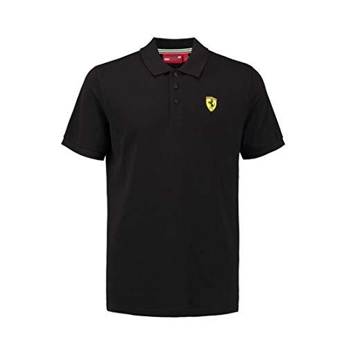 (Scuderia Ferrari Men's Classic Polo Shirt Black (XL))