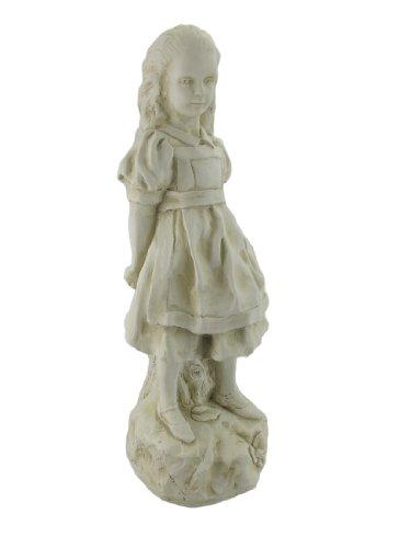 Cheap 19 Inch Alice in Wonderland Museum White Garden Statue