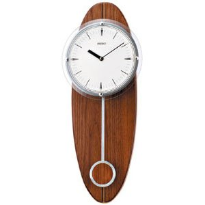 Seiko Stylish Wooden pendulum Wall Clock QXC205Y Amazoncouk
