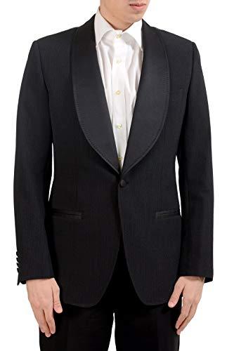 Dolce & Gabbana Men's Silk Wool Tuxedo Striped Blazer Sport Coat US 40 IT 50 Black (Dolce Tuxedo & Gabbana)
