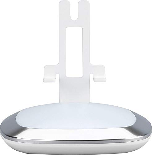 Illuminated Stand -  Flexson Lighted Desktop Speaker Stand for Sonos PLAY 1 with USB Charger (White)