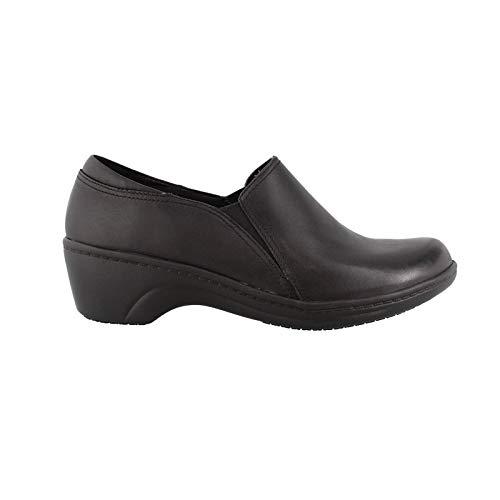 - CLARKS Women's Grasp Chime Slip-On Loafer, Black, 8.5 W US