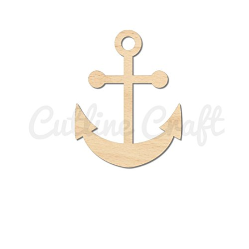 Anchor Nautical Style 1162, Wooden Cutouts, Crafts Embellishment, Gift Tag or Wood Ornament
