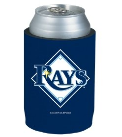 MLB Tampa Bay Rays Can Holder Blue Sports Fan Cold Beverage Koozies, Team Color, One ()