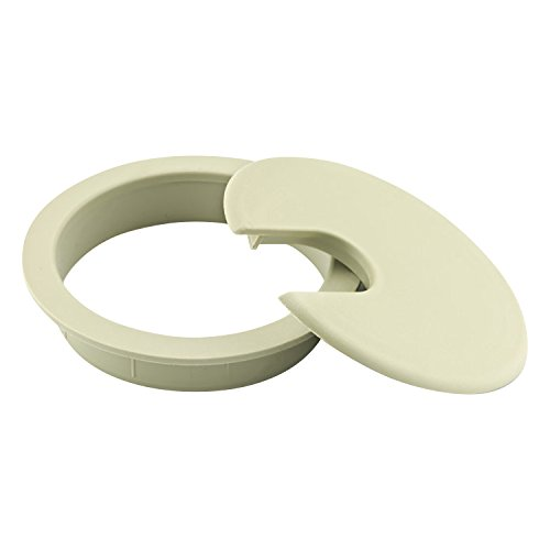 Rok Hardware 3'' (76mm) Round Computer Desk Table Port Wire Cable Cord Organizer Hole Cover Grommet ROKRG3CRM (3'', Cream, 25) by Rok (Image #2)