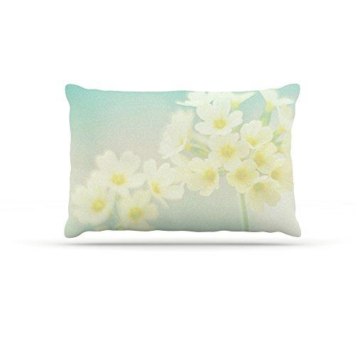 30 by 40\ Kess InHouse Monika Strigel Happy Spring  Yellow Teal Fleece Dog Bed, 30 by 40