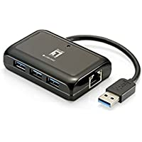 LevelOne USB-0502 Network Adapter Gigabit Ethernet, Black