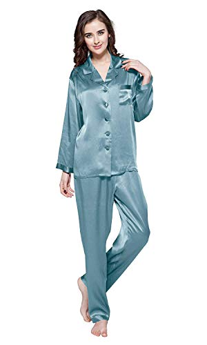 a78250ecc LilySilk Silk Pajamas for Women Pure Full Length Long 22 Momme 100% Mulberry  Silk Luxury
