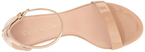 shop offer cheap online Stuart Weitzman Women's Nearlynude Heeled Sandal Adobe Aniline free shipping sast tumblr cheap price d20oae6