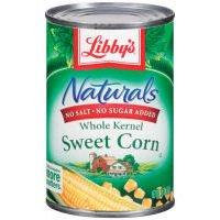 Libby's Naturals No Salt & No Sugar Added Whole Kernel Sweet Corn, 15 oz