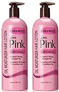 Luster's Pink Oil Moisturizer Hair Lotion, 32 Ounce (Packaging may vary) (2 Pack) - Hair Lotion Original Oil Moisturizer