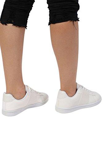 PILOT® Women's Glitter Detail Trainer Pumps in White White PNKaS1M7