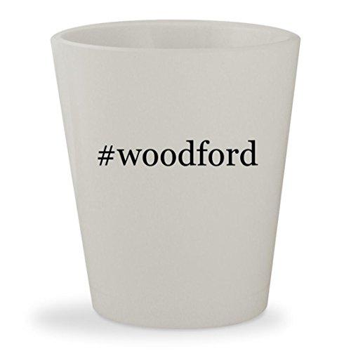 Mike & Chris Bib (#woodford - White Hashtag Ceramic 1.5oz Shot Glass)
