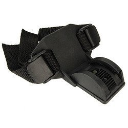 NiteRider Pro Series Low Profile Helmet Strap Mount Black, One - Mount Niterider Helmet