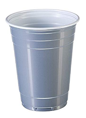 Goodtimes Big Party Pack 50 Count Disposable Plastic Cups, 16-Ounce (Silver 2 pack) (Silver 16 Oz Plastic Cups)