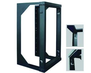 8U Open Wall Mount Frame Rack - 18'' Depth - Swing Out Door by Vertical Cable