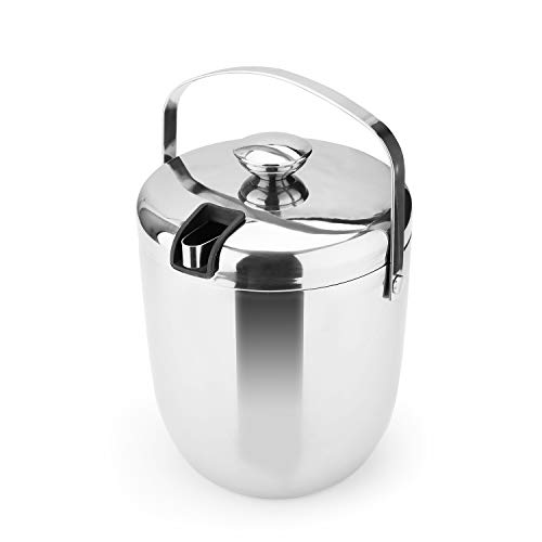 T-rainbow – Ice Bucket Insulated Double Walled Stainless Steel Buckets for Parties (Silver)