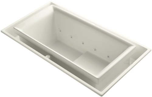 Kohler K-1189-RE-96 Sok Overflowing Bath with Effervescence and Left-Hand Drain, ()