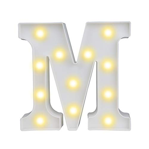 Pooqla LED Marquee Letter Lights Alphabet Light Up Sign for Table Wedding Home Party Bar Decoration M