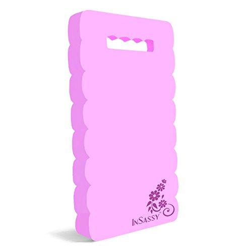 InSassy Garden Kneeler Pad - Kneeling Mat for Gardening Baby Bath Yoga Exercise & Prayer - High Density Foam Knee Pad for Work, Pink (Large - 18 x 8 1/4 x 4/5 Inches)