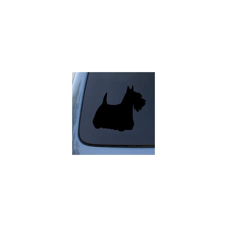 SCOTTISH TERRIER SILHOUETTE   Dog Decal Sticker #1555  Vinyl Color Silver
