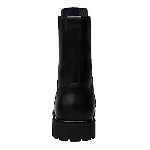 Al In Nera Antiscivolo Piatto Uomo Da Pelle Fodera Combattimento Polpaccio Minimalistic Stivali Nero Militare Jamron qCwTYE