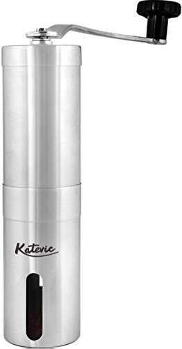 Katevic Manual Coffee Grinder with Adjustable Ceramic Burr,