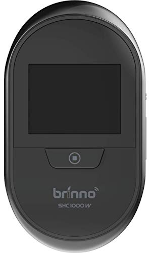 (Brinno Duo Front Door Peephole Camera SHC1000W - Smart Home Security System with Mobile and Live Feed - Dual Image Storage with Data Privacy - No Fees, Quick, Easy Installation,)