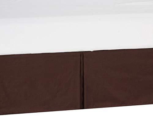 """Shreem Linen デイベッド テーラードベッドスカート スプリットコーナー Twin XL Daybed - 18"""" drop ブラウン daybed skirts-002-102"""