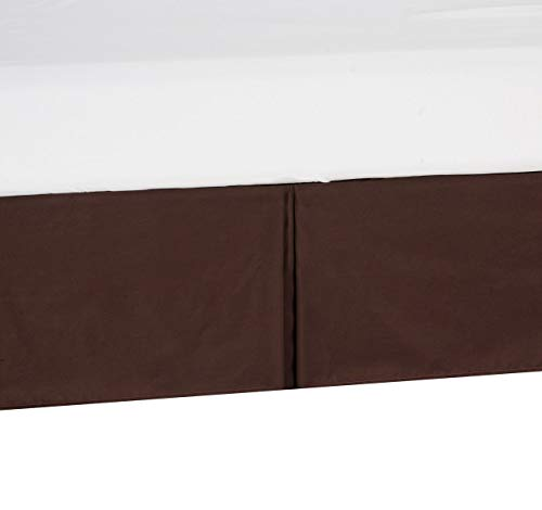 "Shreem Linen Daybed Tailored Bed Skirt Twin Size, 14"" Drop Pleated Split Corners Bedskirt, Chocolate (Available in 10 Solid Colors)"