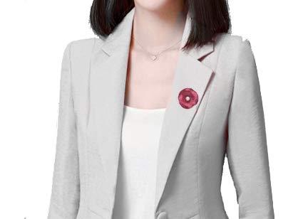 rouge Broche magn/étique Treend24 pour femme avec feuille de perle