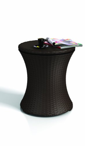 keter rattan outdoor patio deck pool cool bar ice cooler table furniture brown buy online in. Black Bedroom Furniture Sets. Home Design Ideas